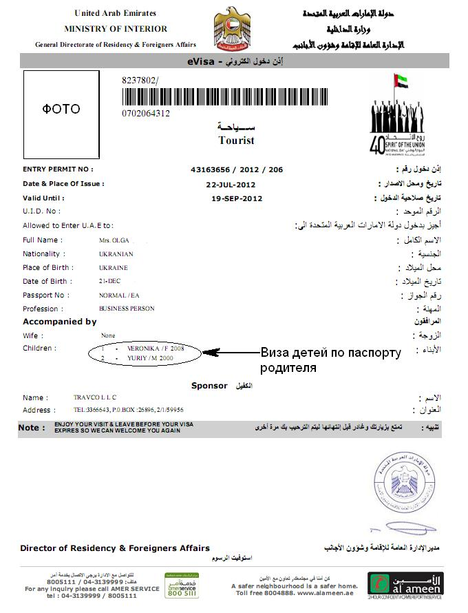 Как оформит визу в оаэ самостоятельно